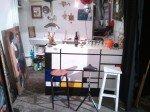 Bar peint façon Mondrian